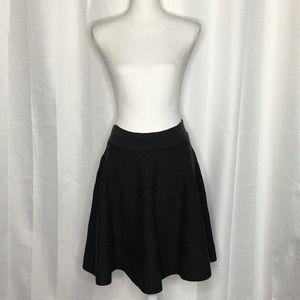 Ivanka Trump Textured Knit Skater Skirt Size L
